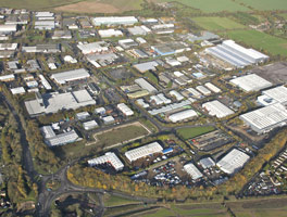 Aerial photo of Walworth Business Park